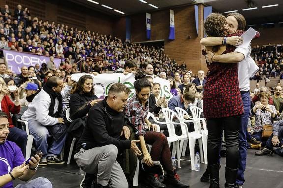 Míting de Podem a Barcelona
