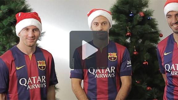 Messi desitja un bon Nadal als culers