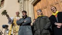 Francesc Homs beneeix la històrica festa dels Tonis de Taradell