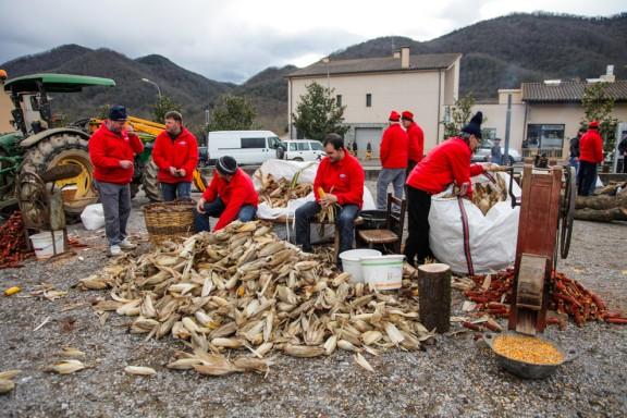 La vuitena Fira del Farro de la Vall de Bianya atrau uns 4.000 visitants