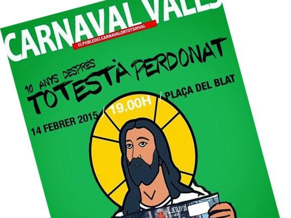 El Carnaval de Valls s'empesca un «Charlie Hebdo» cristià