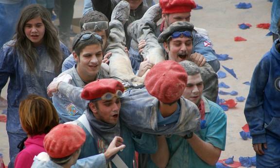 Participants de la Guerra de la Farina de l'any passat