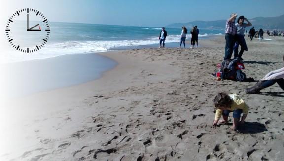 Una platja a Calafell, en una imatge d'arxiu