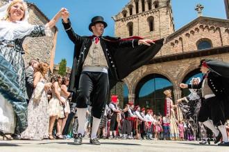 Toni Albà i Paula Valls, padrins del Casament a Pagès a Ripoll