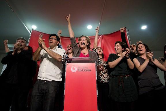 La nit electoral a Barcelona