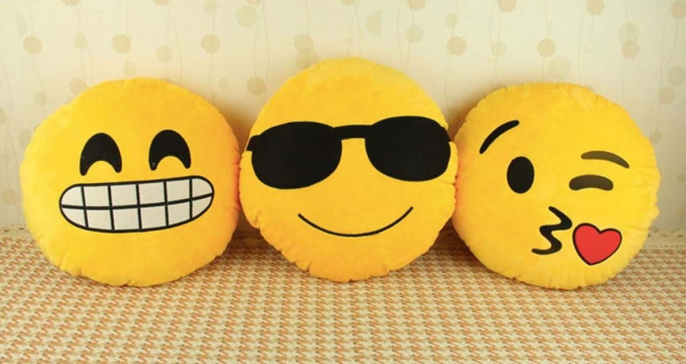 Coixins d'emoticones