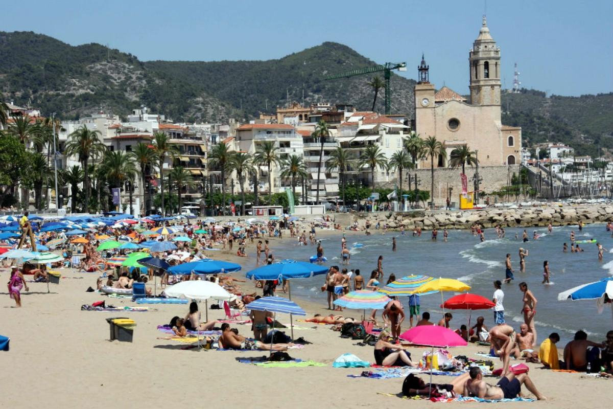 La platja de Sitges, en una foto d'arxiu