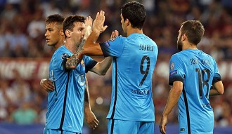 El Barça empata contra la Roma en el debut a la Lliga de Campions (1-1)