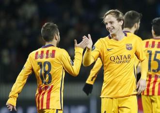 Un doblet de Rakitic dóna la victòria al Barça davant el Bate Borisov  (0-2)