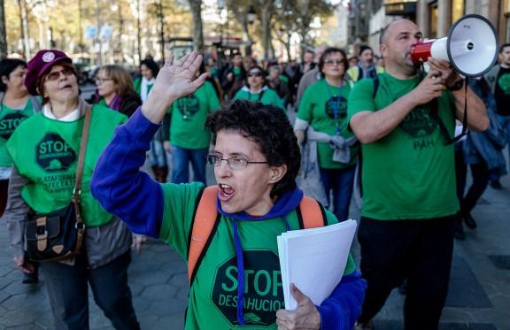 Acció de la PAH a Barcelona