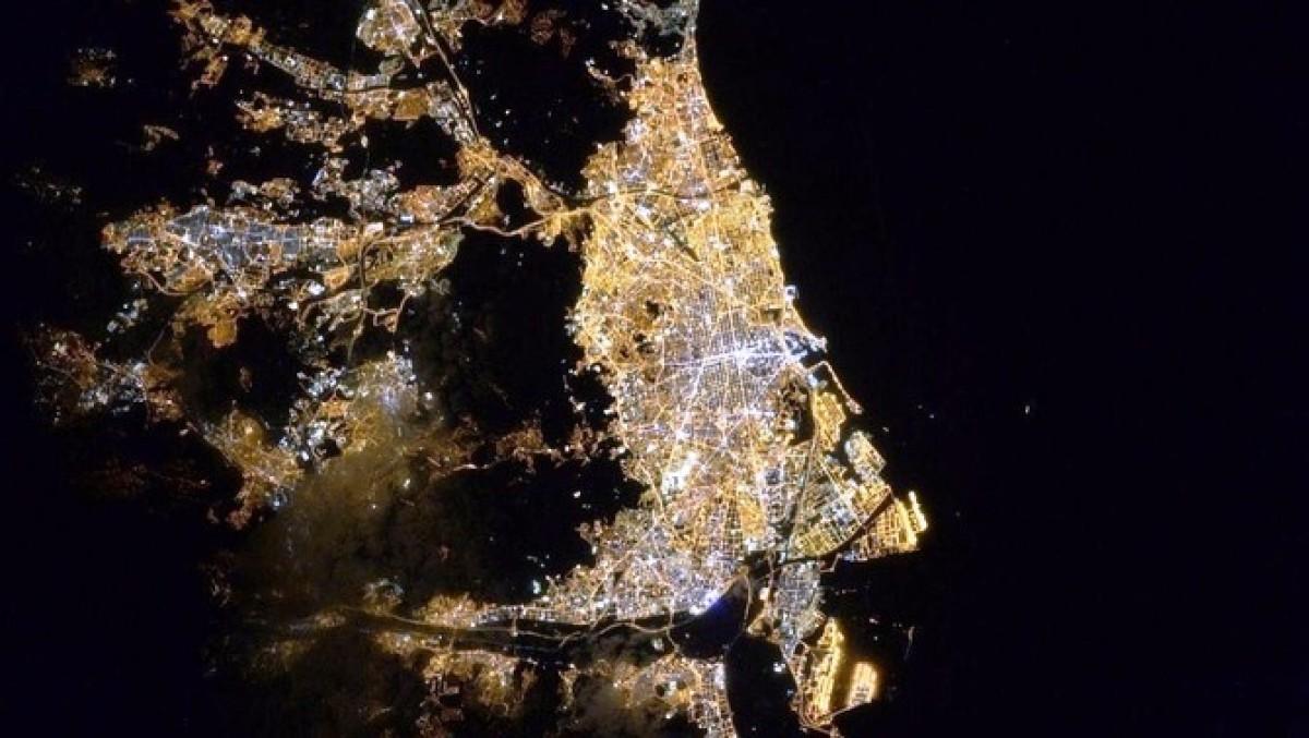 Imatge de Barcelona des de l'Estació Espacial Internacional