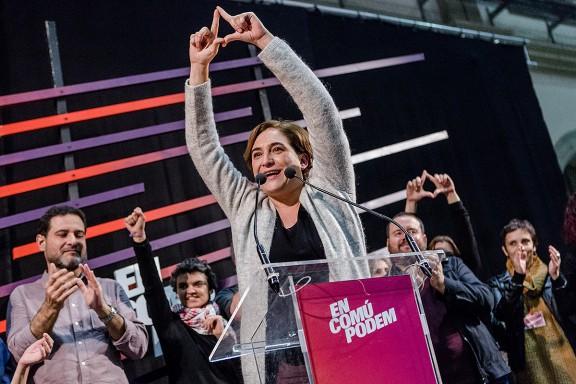 La nit electoral d'En Comú Podem