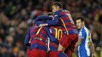 El Barça encarrila els vuitens de la Copa del Rei superant l'Espanyol (4-1)