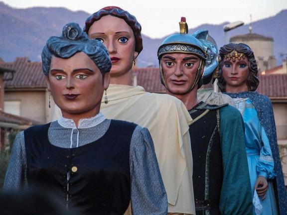 Trobada gegantera a Sant Vicenç de Torelló