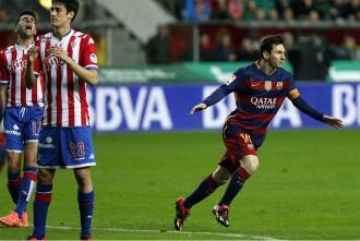 El Barça no falla a Gijón i deixa la Lliga molt encarrilada