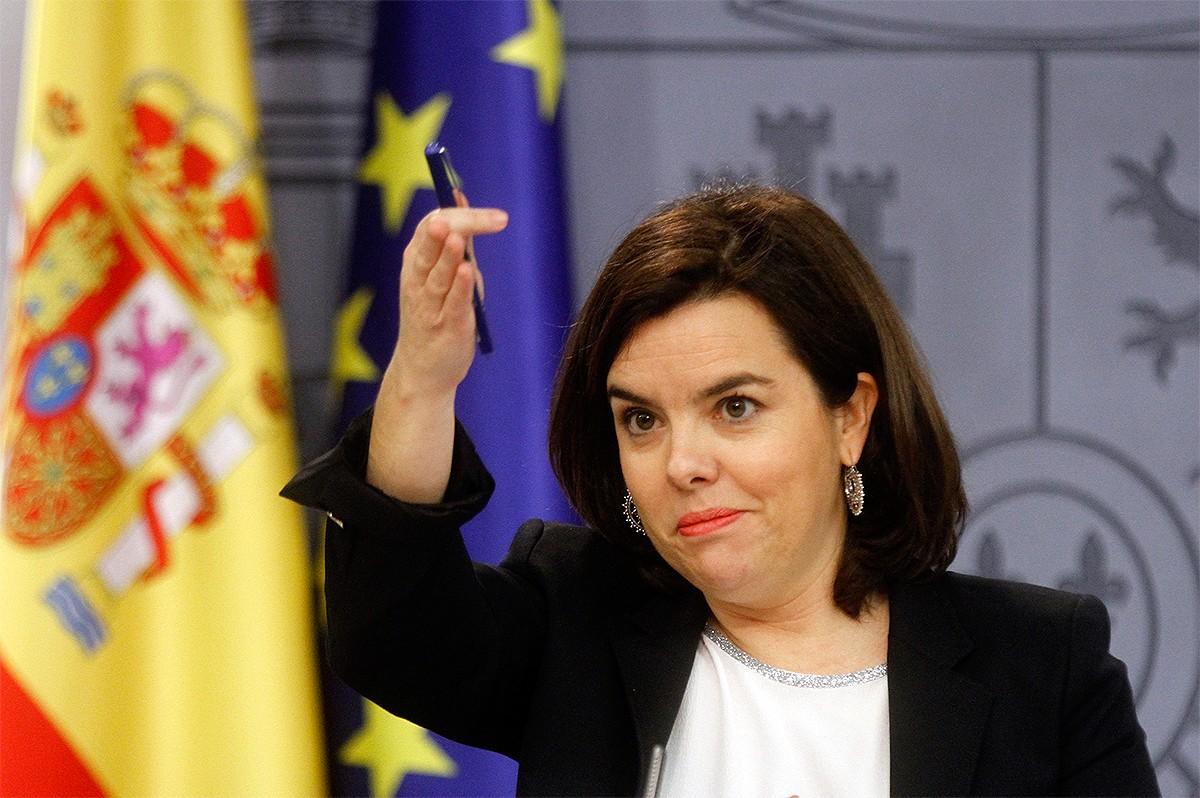 Soraya Sáez de Santamaría, a la roda de premsa del consell de ministres