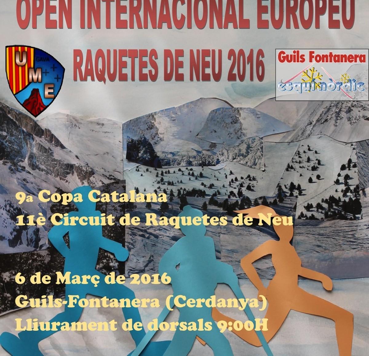 Cartell de la competició a Guils Fontanera