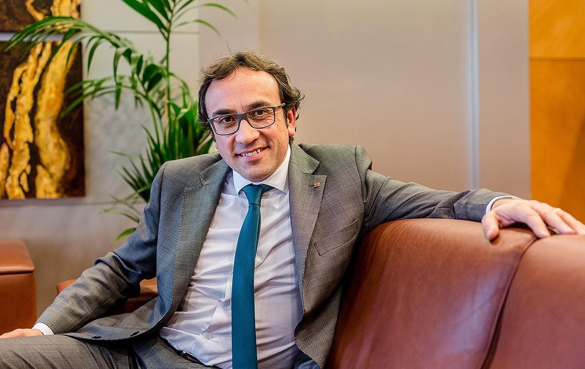 Josep Rull, a l'entrevista concedida als diaris territorials de Nació Digital