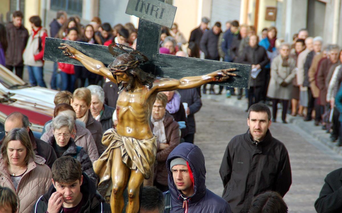 Processó del viacrucis a Berga