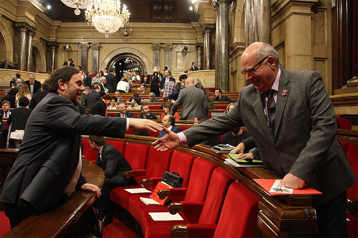 Oriol Junqueras i Lluís Rabell, al Parlament