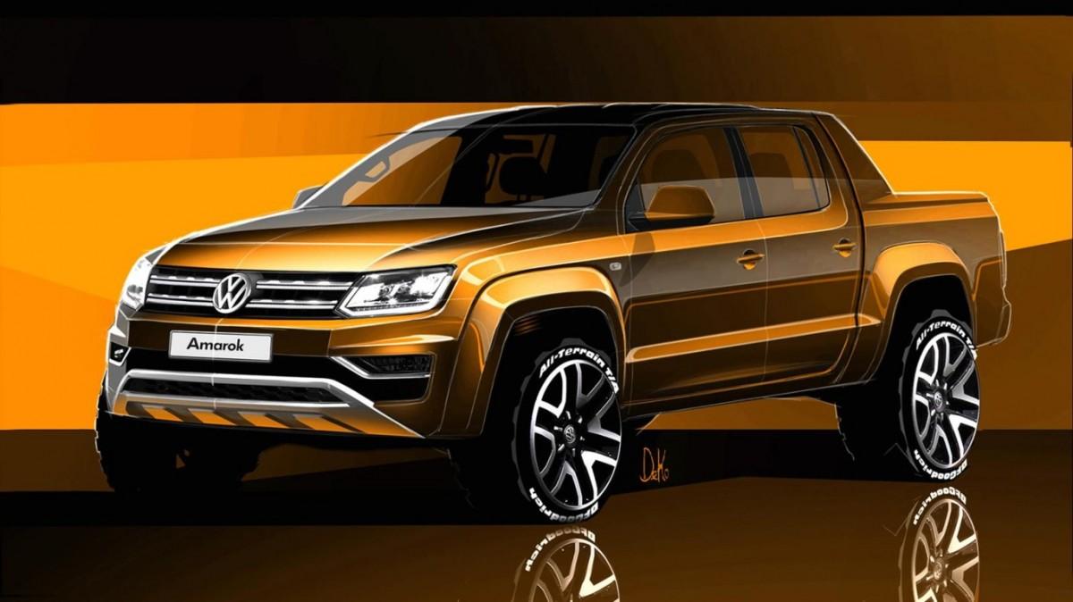 Primera imatge de la nova Volkswagen Amarok, la