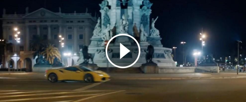 Ferrari 488 GTB durant el rodatge de l'anunci de l'empresa Pennzoli