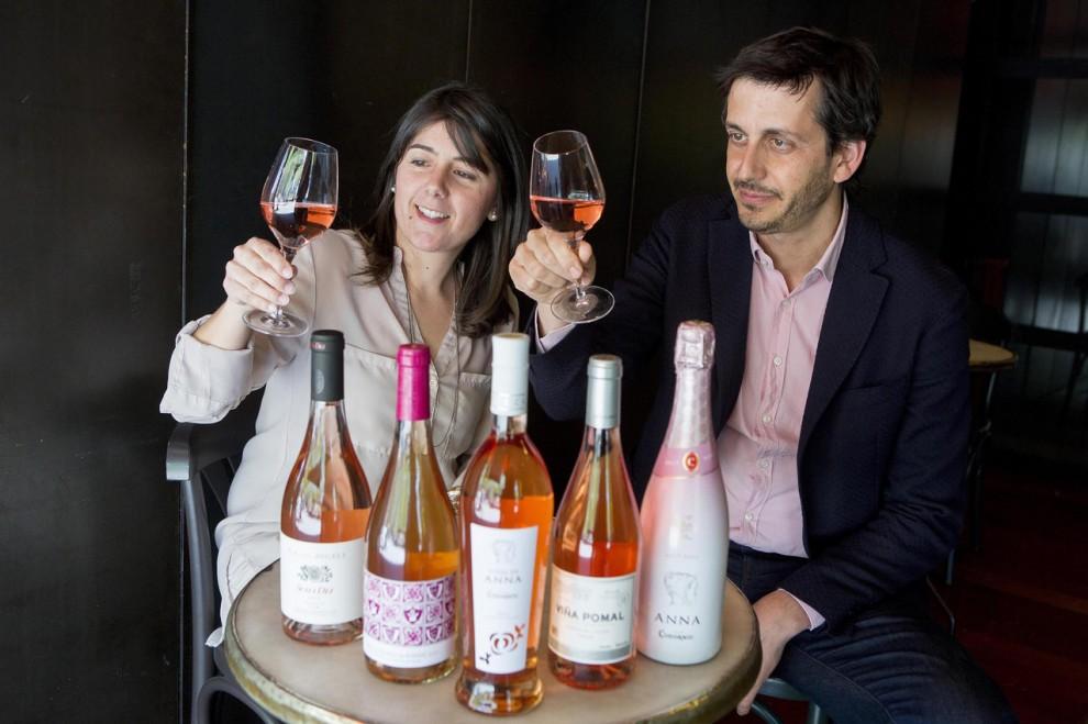 Elisabet Figueras, enòloga de Raimat, i Guillem Graell, Director de Marketing del Grup Codorníu Raventós
