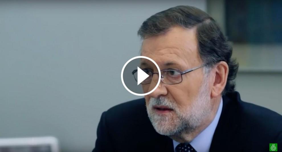 Mariano Rajoy durant l'entrevista al programa de Jordi Évole
