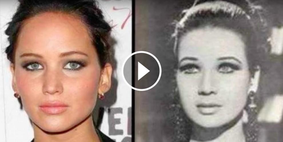Jennifer Lawrence amb Zubaida Tharwat, una actriu egípcia de cinema, televisió i teatre, que va triomfar als anys 50