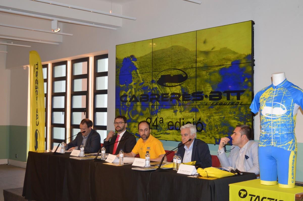 Autoritats de la presentació de la 24ª CabrerèsBTT