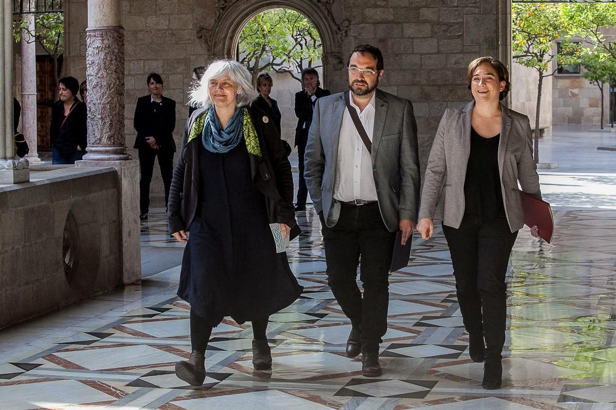 Diversos alcaldes catalans en la compareixença d'avui