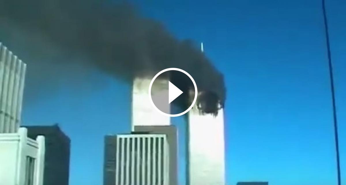 Captura del vídeo inèdit de l'11-S