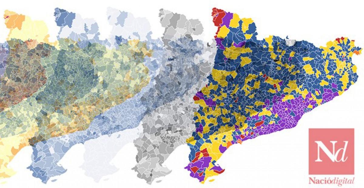 Els mapes són un recurs útil per comprendre visualment els resultats electorals
