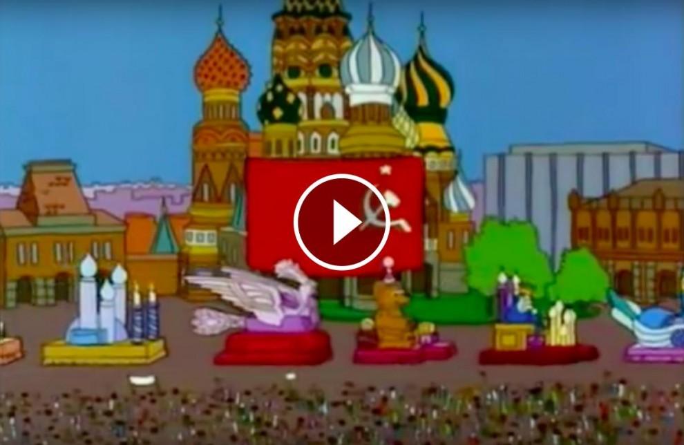 Escena d'un capítol dels «Simpson» del retorn de la Unió Soviètica