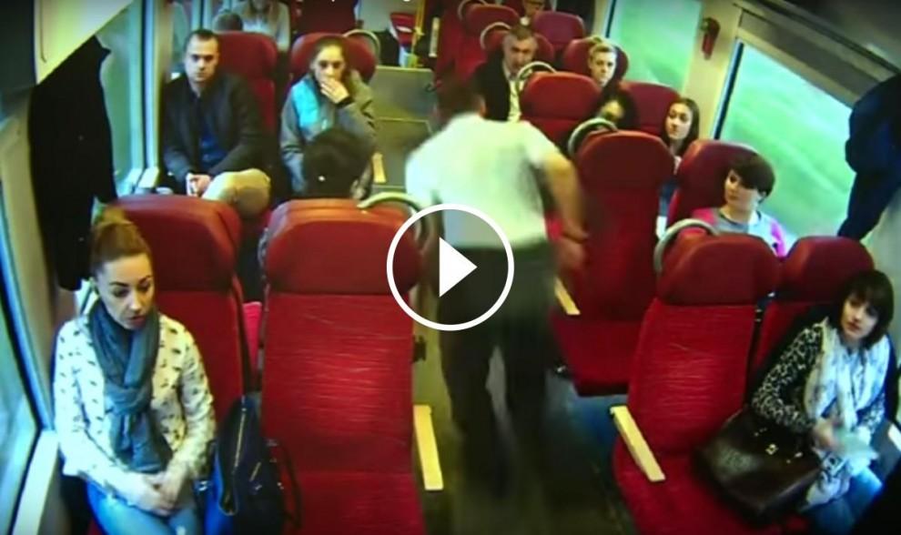 El maquinista d'un tren de Polònia adverteix els viatgers d'un accident imminent