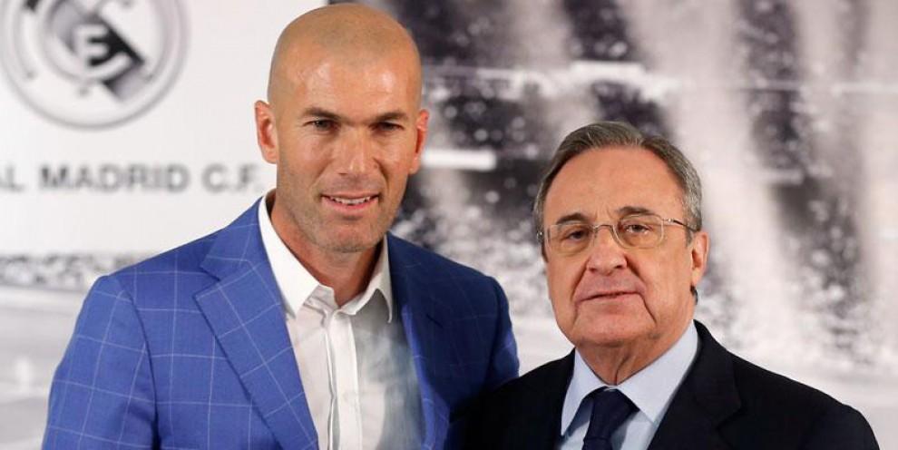 Zinedine Zidane, el dia de la presentació com a entrenador del Madrid