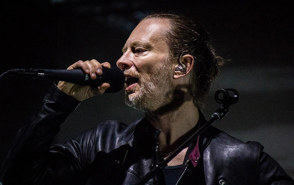 Thom Yorke, líder de Radiohead, durant el concert