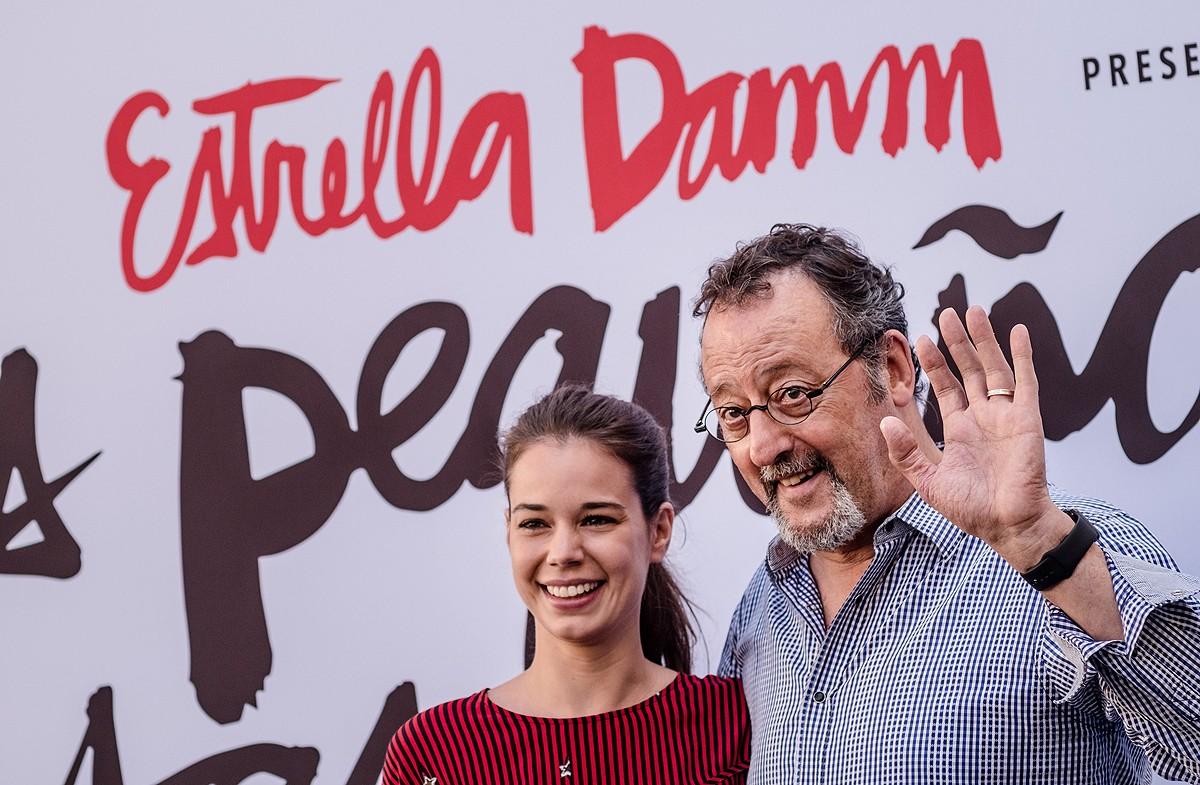 Laia Costa i Jean Reno, a l'acte de presentació del curtmetratge d'Estrella Damm
