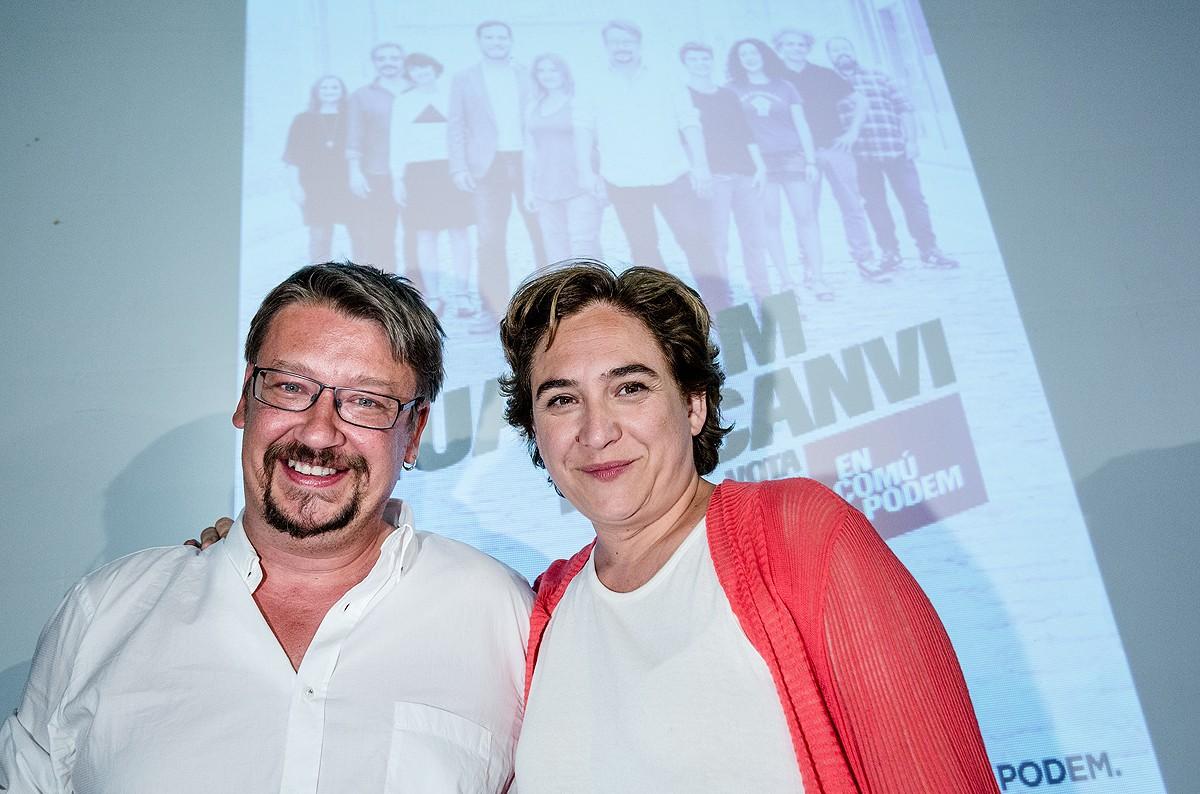 Xavier Domènech i Ada Colau, aquest dijous a la nit