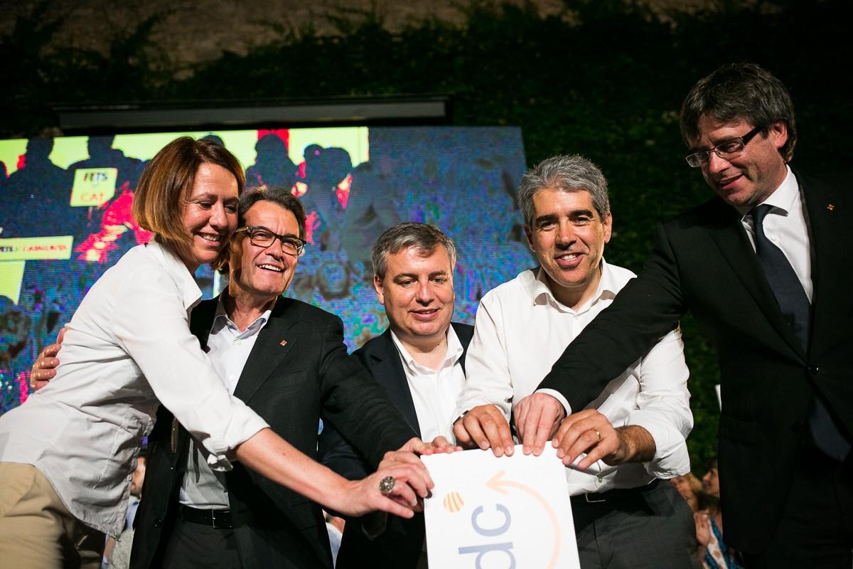 Madrenas, Mas, Xuclà, Homs i Puigdemont, a l'acte inicial de campanya