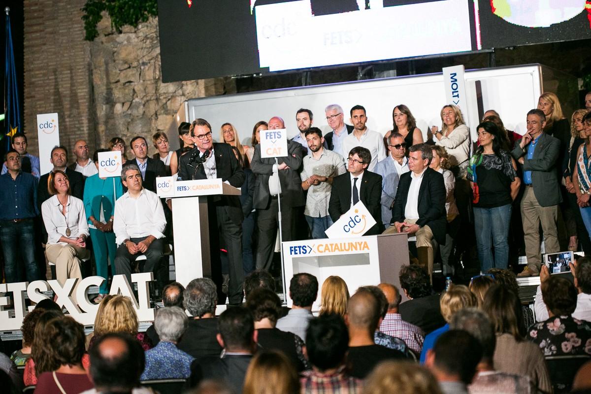 Artur Mas, al míting d'inici de campanya de CDC