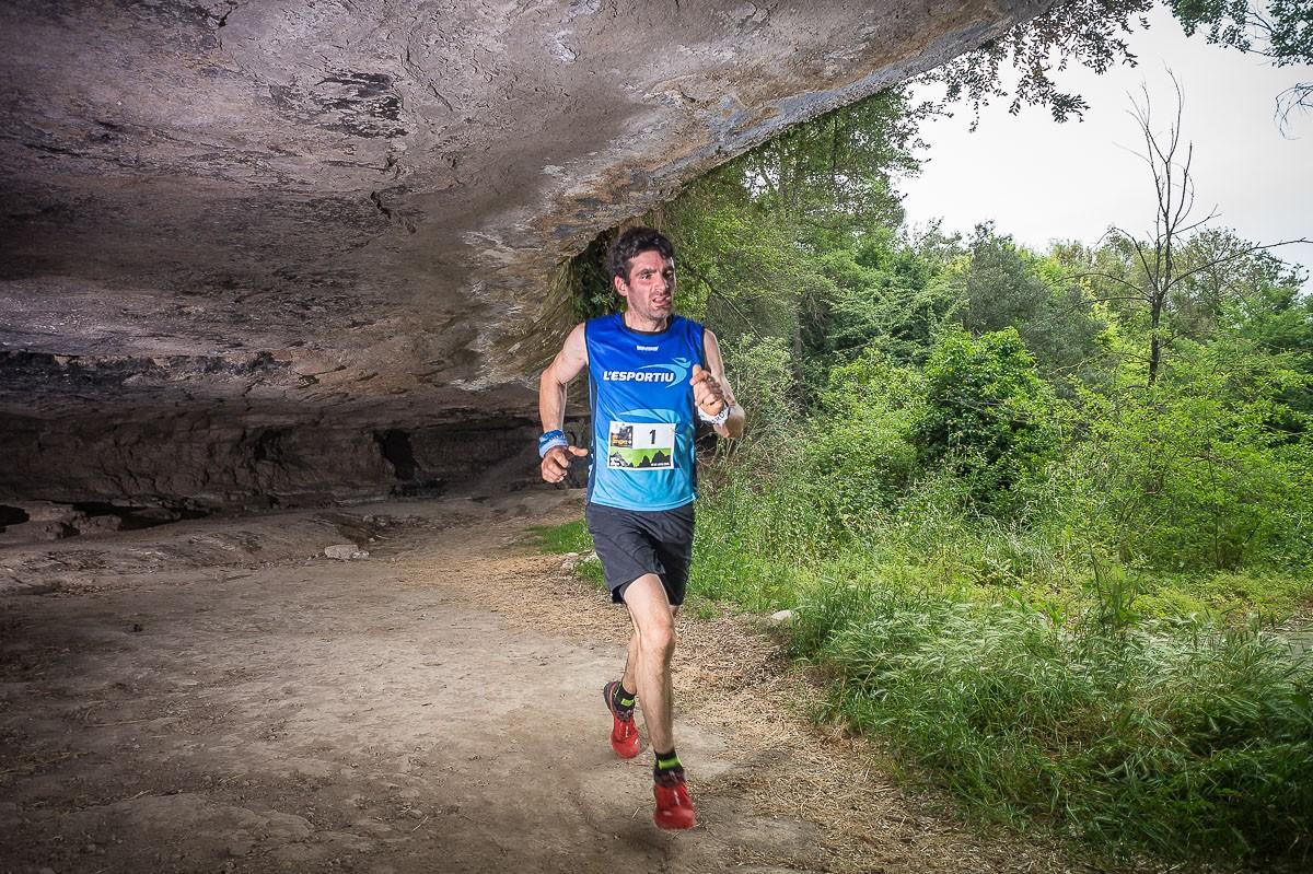 Josep Viñas en un moment de la cursa