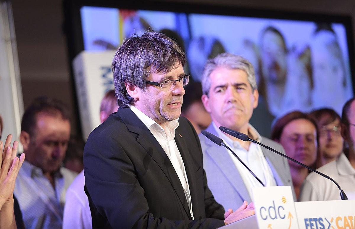 Carles Puigdemont i Francesc Homs, aquesta nit