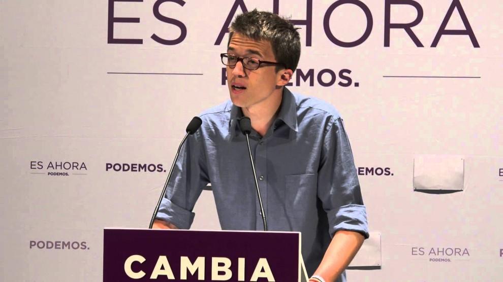 Íñigo Errejón en un acte de Podem