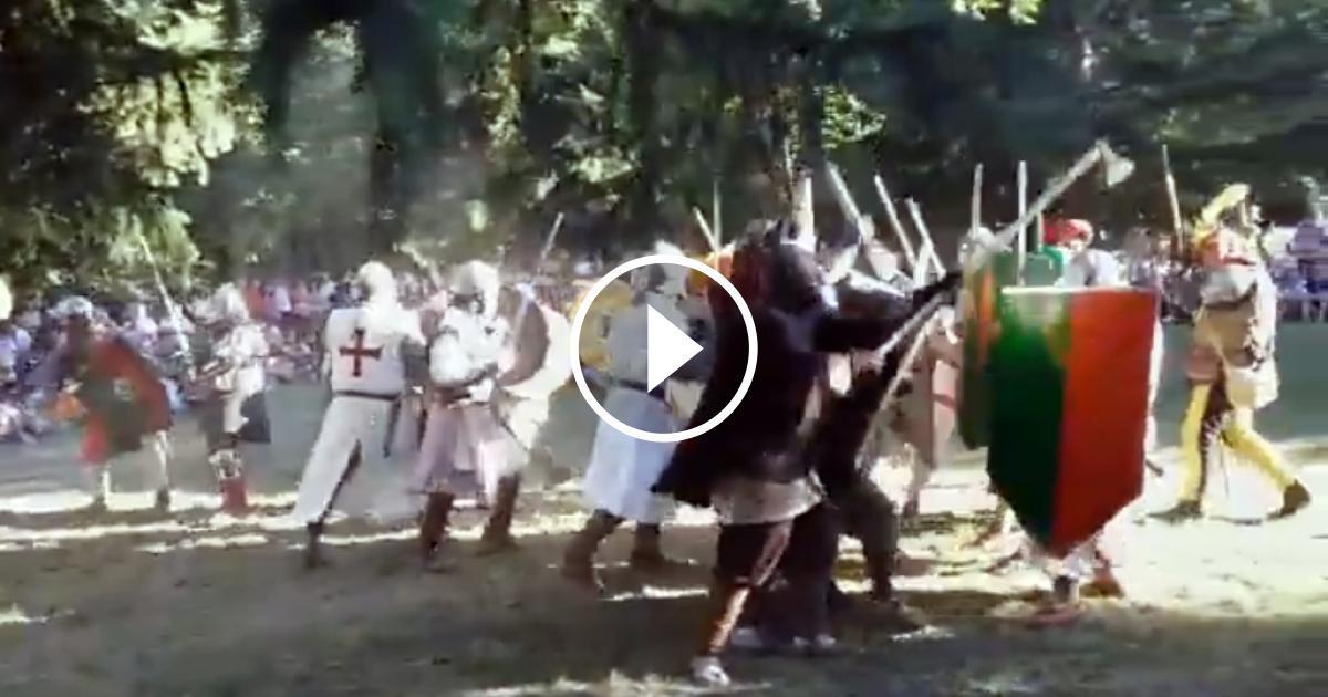 Batalla campal a Bagà
