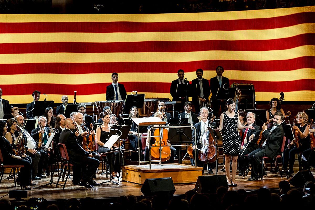 Imatge de l'acte «L'últim assaig», a l'entorn de la figura de Pau Casals per commemorar els 80 anys de l'inici de la Guerrra Civil