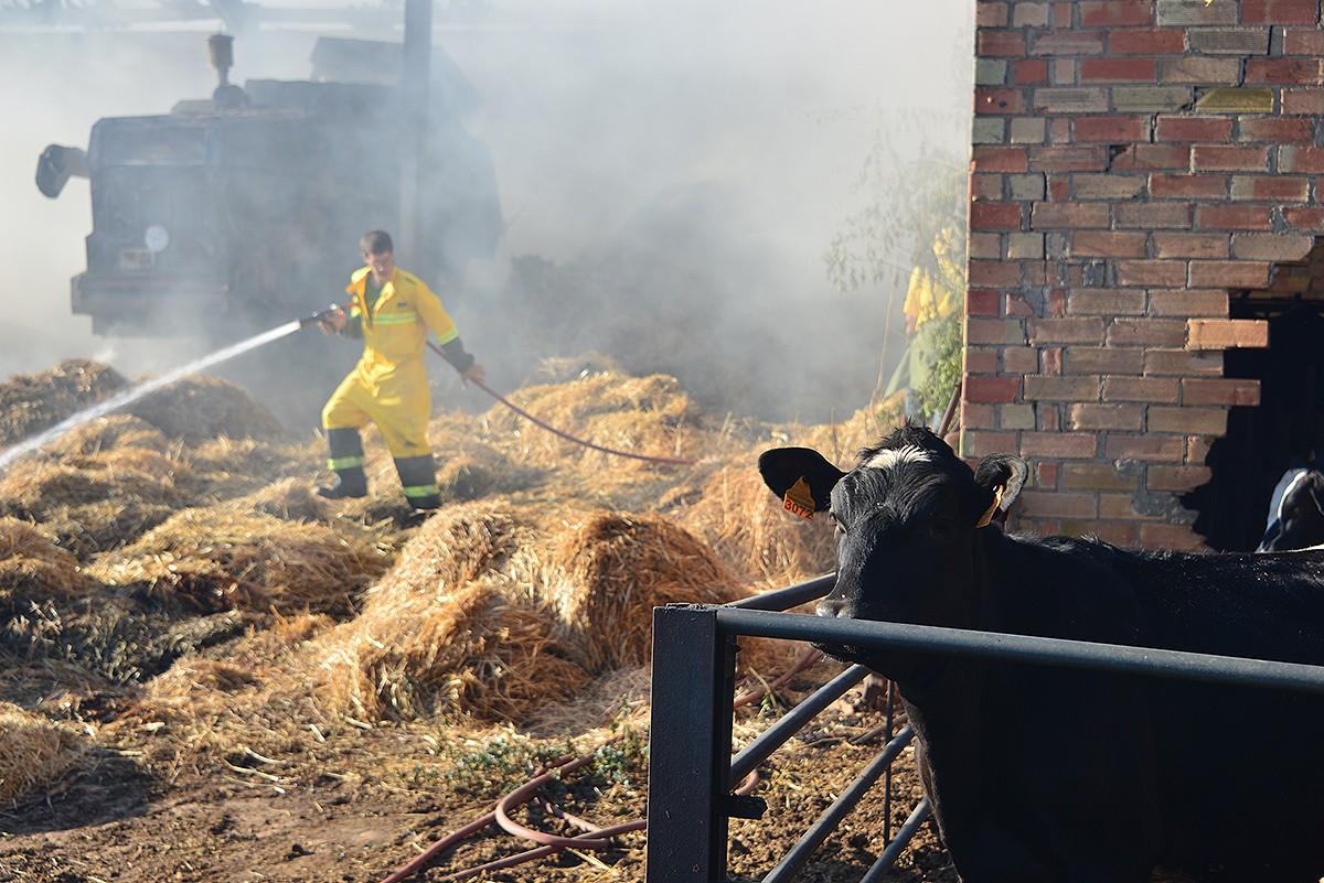 L'incendi de Sant Feliu Sasserra va calcinar la coberta d'una masia