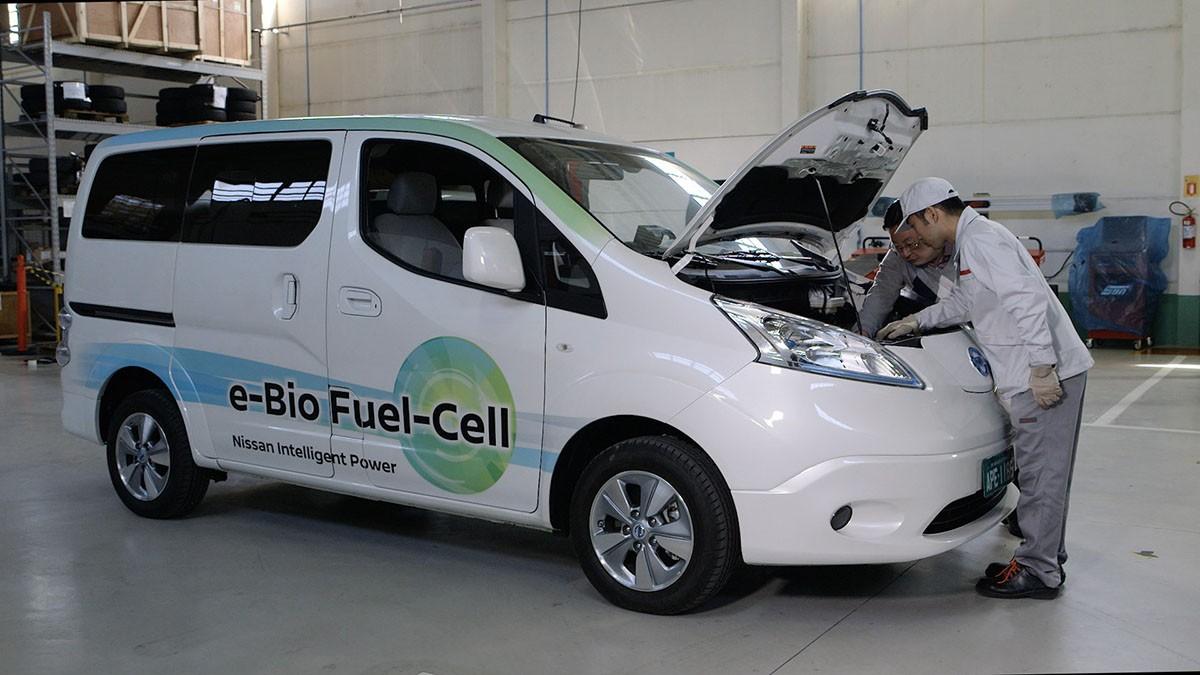 Nissan elèctric amb pila de combustible