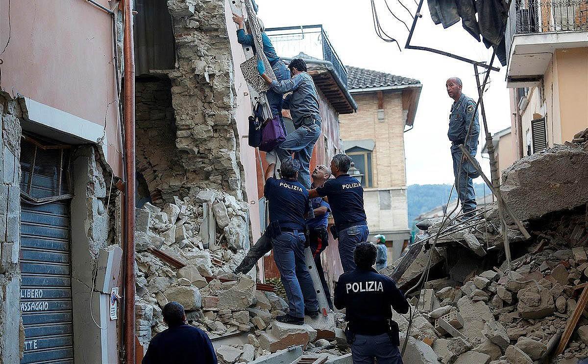 Imatge d'arxiu d'un terratrèmol a Itàlia