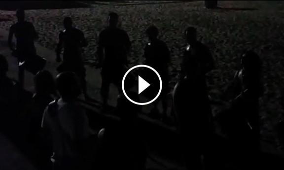 Els tambors de la Festa Major ressonen a la platja de Sitges